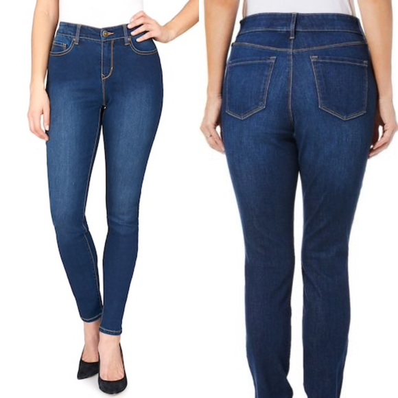 fbd39b708cbf4 Gloria Vanderbilt Jeans   Comfort Curvy Skinny Blue   Poshmark